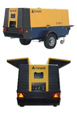 KMR Driiling COMPAIR C85/14 x 2 ONE TOWABLE (C53CJ) AND ONE TRUCK MOUNTED COMPRESSOR